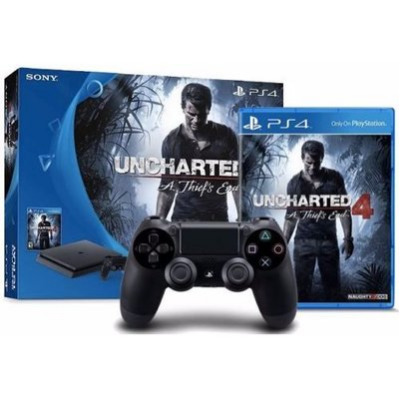Playsation 4 Slim 500gb Uncharted 4-video game/console