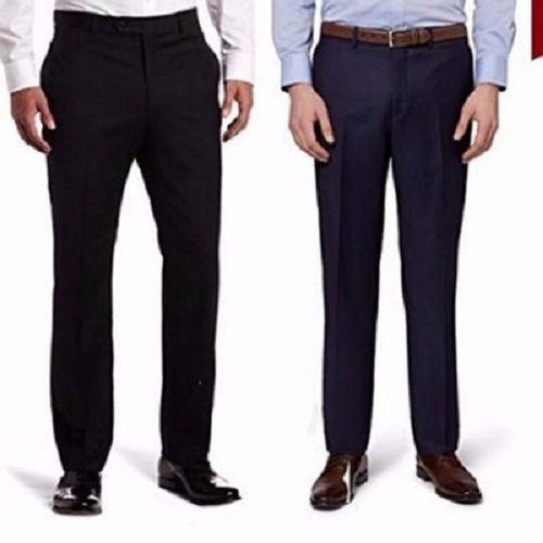2n1 Men suit trousers-black navy blue smart trousers